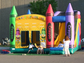 Crayon Playland Bounce Slide Combo